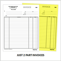 2 part custom invoices printing