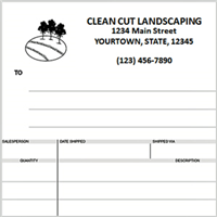 landscaping invoices