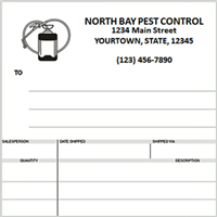 pest control invoices