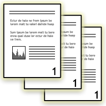 Illustration of uncollated pages