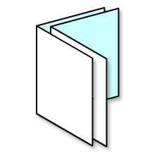 two folded sheets is eight pages