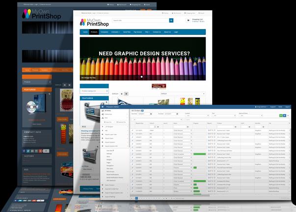 web to print storefront pressero screen shots