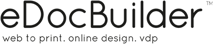 Web to Print Online Design eDocBuilder Logo