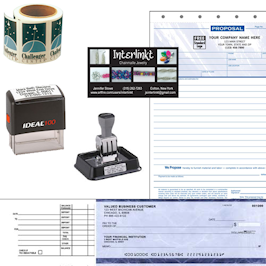 Commercial Press personalized office supplies. add logo, desk accessories, pad-folios, notebooks, business forms, labels, envelopes and more