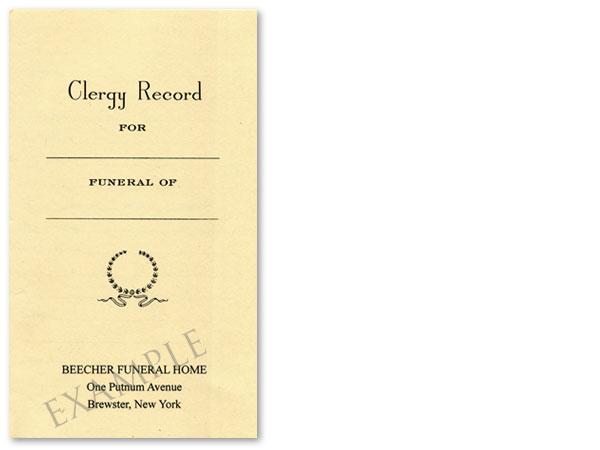Clergy Record #1008