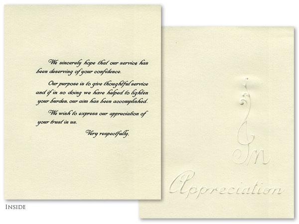 Appreciation - French Folded #1017