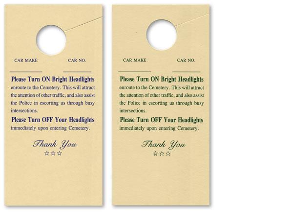 Cemetary Headlight Cards #1028-1