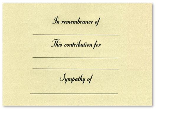 Contribution Card #1051-31
