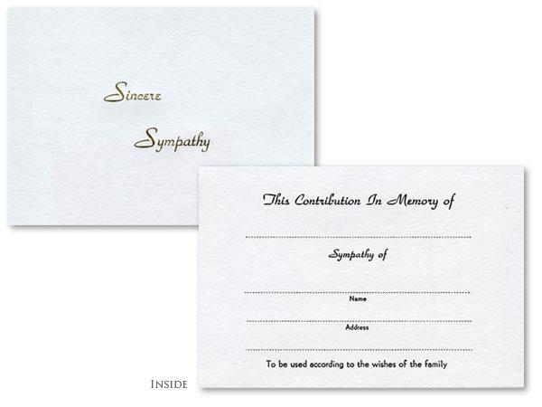 Sincere Sympathy with Envelope #504