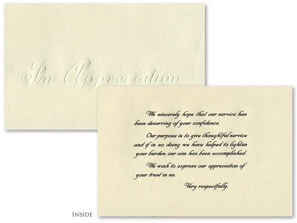 Appreciation - French Folded #916