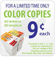 9 cent color copies