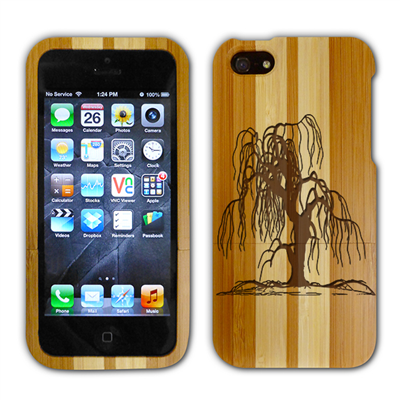 iGear Custom Engraved Bamboo iPhone Case