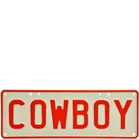 Embossed COWBOY 3