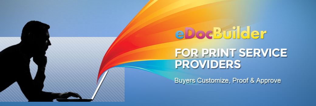 Edocbuilder web to print design online for print service providers