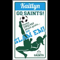 Soccer Locker Magnet Girls