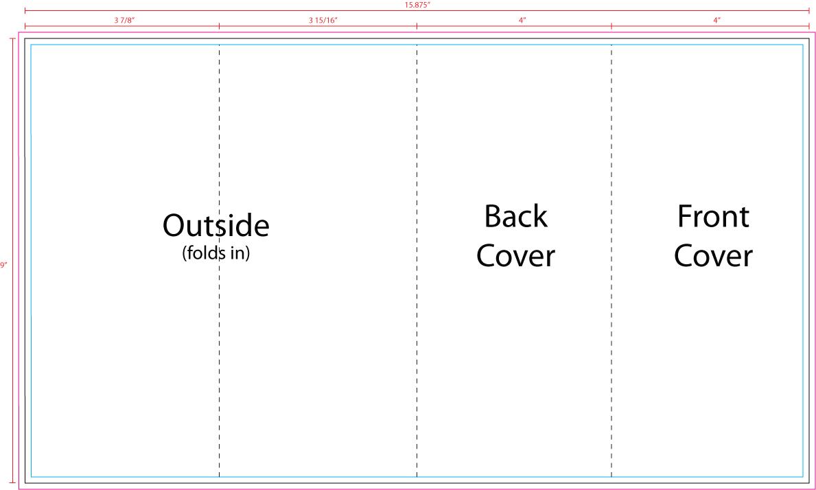 blank barrel fold brochure template