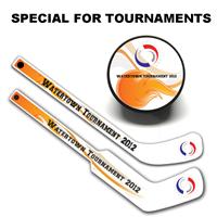 Tournament Hockey Sticks and Pucks Souvenirs