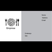 Cartão de Visita Alimentos e Restaurantes 16