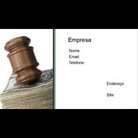 Cartão de Visita Advogado 26