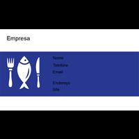 Cartão de Visita Alimentos e Restaurantes 12