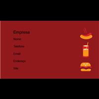 Cartão de Visita Alimentos e Restaurantes 28