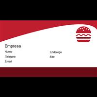 Cartão de Visita Alimentos e Restaurantes 14