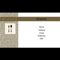 Cartão de Visita Alimentos e Restaurantes 17