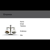 Cartão de Visita Advogado 22