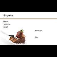 Cartão de Visita Alimentos e Restaurantes 4