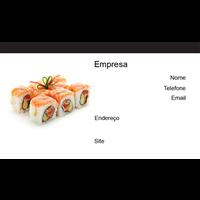 Cartão de Visita Alimentos e Restaurantes 8