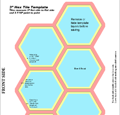 """3"""" Hex Game Tiles"""