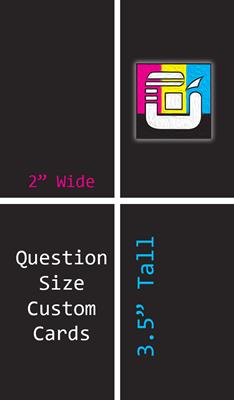 Question Size Custom Card Decks