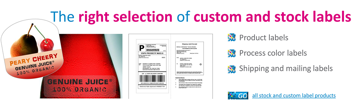 labels - custom or stock