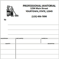 janitorial invoices