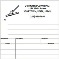 plumbing invoices