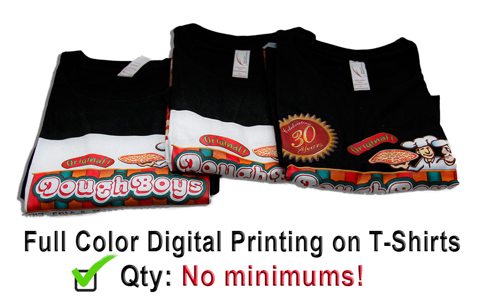 full color t shirt printing no minimums color copies usa