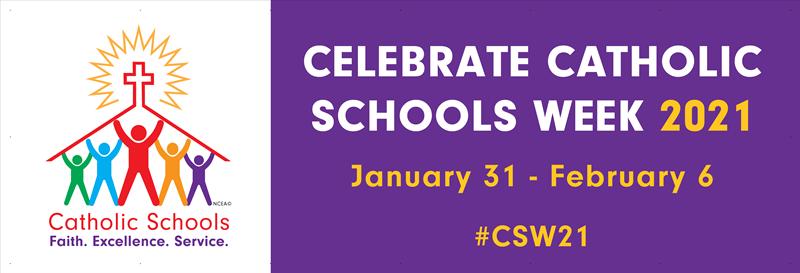 Image result for Catholic schools week 2018 banner