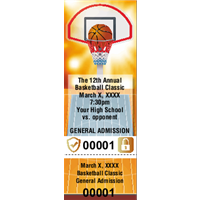 Basketball Tickets with Foil