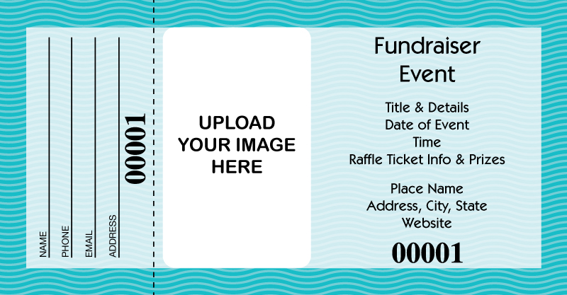 design it yourself large raffle tickets