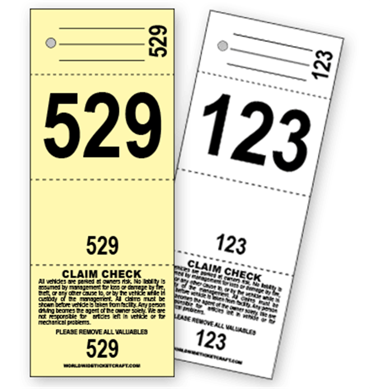 Buy 4 Part Valet Parking Ticket A