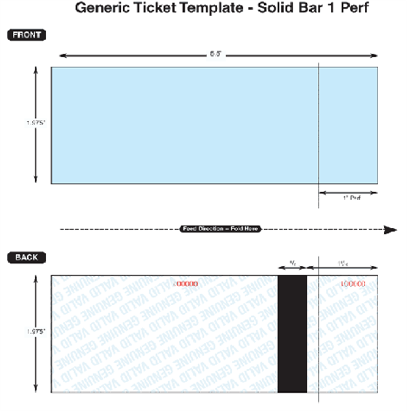 Select Boca Generic Thermal Tickets