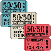 Double Roll Tickets - Large 50/50