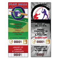 Baseball Tickets with Foil