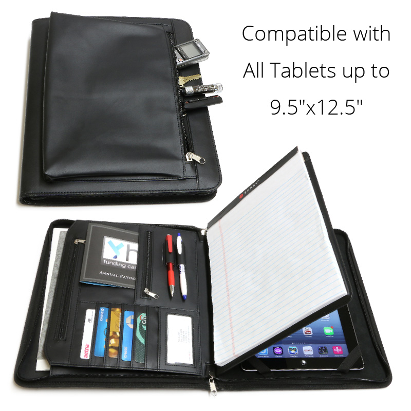 Business Leather Portfolio For Ipad Microsoft Surface Pro