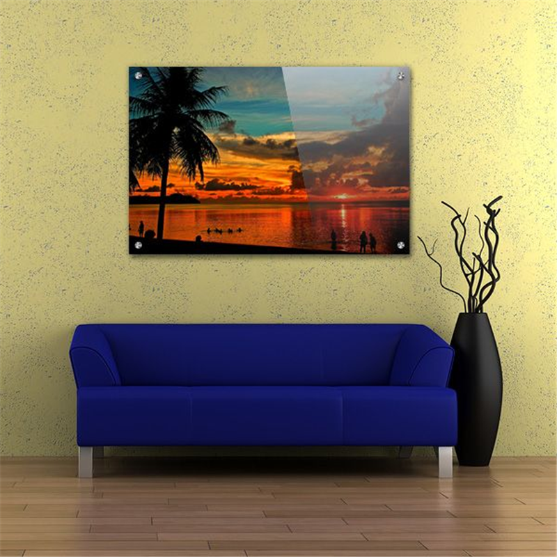 acrylic wall art glossy lobby display contemporary