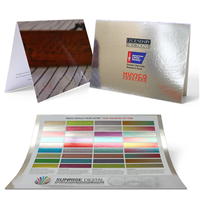 Color Metallic Foil Card