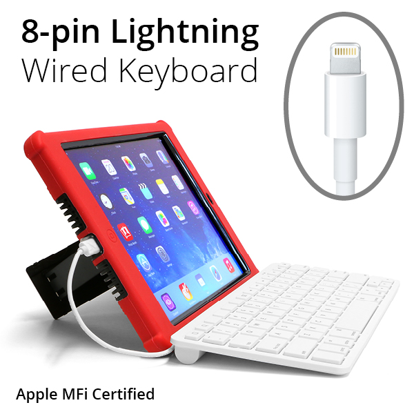 ipad wired keyboard 8 pin lightning or 30 pin. Black Bedroom Furniture Sets. Home Design Ideas