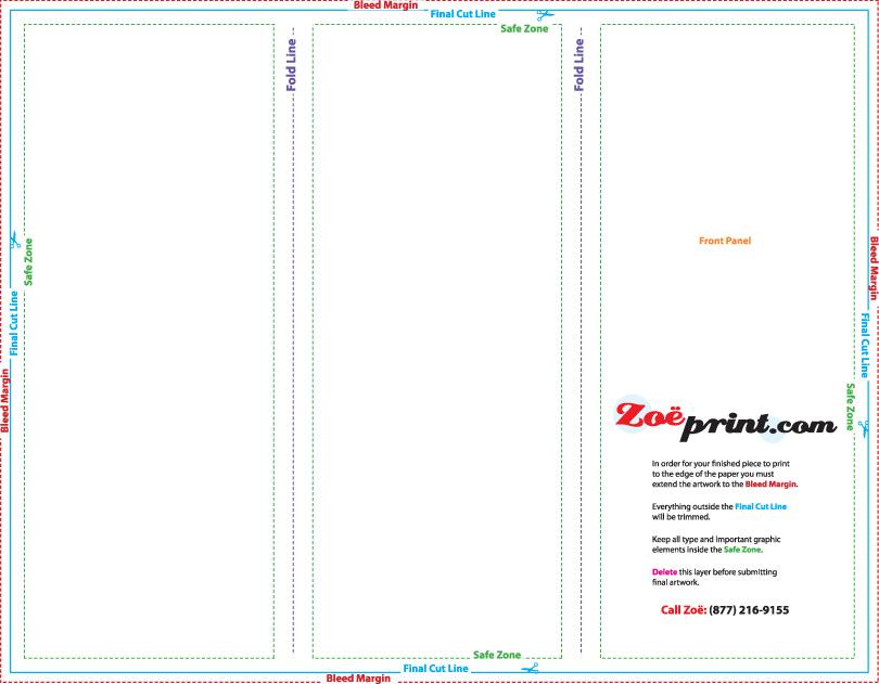 Download Tri Fold/Z Fold Brochure in JPEG format for 8.5x11