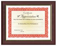 Cherry Deluxe Certificate Plaque (11