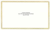 Goes® X911107 Gold Bronze Certificates